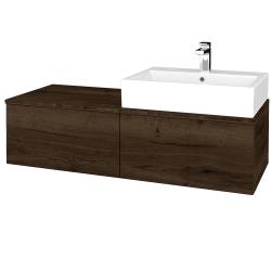 Dreja - Kúpeľňová skrinka MODULE SZZ12 120 - D21 TOBACCO / D21 Tobacco / Pravé (315696P)