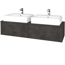 Dreja - Kúpeľňová skrinka MODULE SZZ12 140 - D16  Beton tmavý / D16 Beton tmavý (317232)