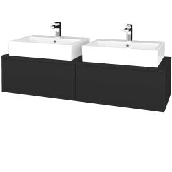 Dreja - Kúpeľňová skrinka MODULE SZZ12 140 - N03 Graphite / N03 Graphite (317300)
