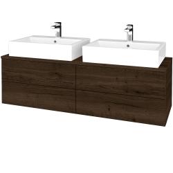 Dreja - Kúpeľňová skrinka MODULE SZZ4 140 - D21 TOBACCO / D21 Tobacco (318048)
