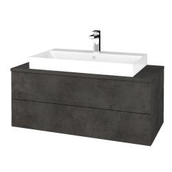 Dreja - Kúpeľňová skrinka MODULE SZZ2 100 - D16  Beton tmavý / D16 Beton tmavý (335243)