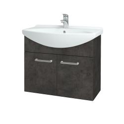 Dreja - Kúpeľňová skriňa TAKE IT SZD2 75 - D16  Beton tmavý / Úchytka T03 / D16 Beton tmavý (206024C)