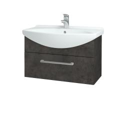 Dreja - Kúpeľňová skriňa TAKE IT SZZ 75 - D16  Beton tmavý / Úchytka T03 / D16 Beton tmavý (206826C)