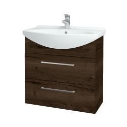 Dreja - Kúpeľňová skriňa TAKE IT SZZ2 75 - D21 TOBACCO / Úchytka T04 / D21 Tobacco (279158E)