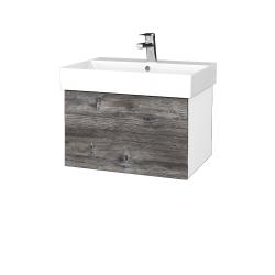 Dreja - Kúpeľňová skriňa VARIANTE SZZ 60 - N01 Bílá lesk / D10 Borovice Jackson (259860)