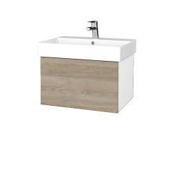 Dreja - Kúpeľňová skriňa VARIANTE SZZ 60 - N01 Bílá lesk / D17 Colorado (259891)