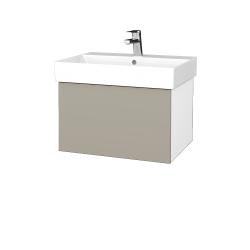 Dreja - Kúpeľňová skriňa VARIANTE SZZ 60 - N01 Bílá lesk / M05 Béžová mat (259914)
