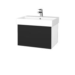 Dreja - Kúpeľňová skriňa VARIANTE SZZ 60 - N01 Bílá lesk / L03 Antracit vysoký lesk (259938)
