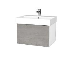 Dreja - Kúpeľňová skrinka VARIANTE SZZ 60 - N01 Bílá lesk / D01 Beton (260002)