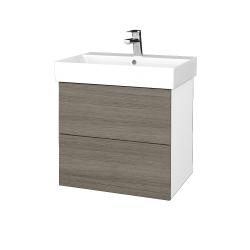 Dreja - Kúpeľňová skriňa VARIANTE SZZ2 60 - N01 Bílá lesk / D03 Cafe (260279)
