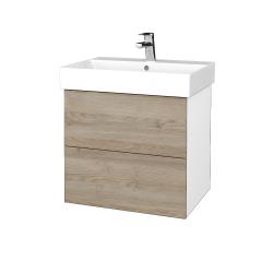 Dreja - Kúpeľňová skriňa VARIANTE SZZ2 60 - N01 Bílá lesk / D17 Colorado (260361)