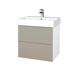 Dreja - Kúpeľňová skriňa VARIANTE SZZ2 60 - N01 Bílá lesk / M05 Béžová mat (260385)