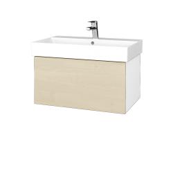 Dreja - Kúpeľňová skriňa VARIANTE SZZ 70 - N01 Bílá lesk / D02 Bříza (260736)