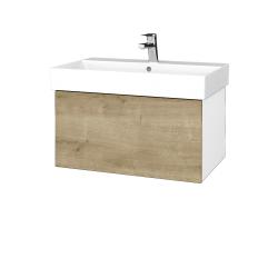 Dreja - Kúpeľňová skriňa VARIANTE SZZ 70 - N01 Bílá lesk / D09 Arlington (260798)