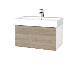 Dreja - Kúpeľňová skriňa VARIANTE SZZ 70 - N01 Bílá lesk / D17 Colorado (260835)
