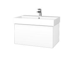 Dreja - Kúpeľňová skriňa VARIANTE SZZ 70 - N01 Bílá lesk / M01 Bílá mat (260842)