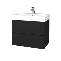 Dreja - Kúpeľňová skriňa VARIANTE SZZ2 70 - L03 Antracit vysoký lesk / L03 Antracit vysoký lesk (261146)