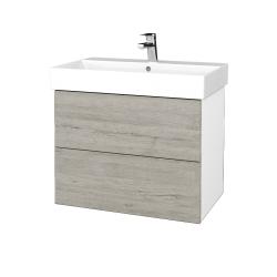 Dreja - Kúpeľňová skriňa VARIANTE SZZ2 70 - N01 Bílá lesk / D05 Oregon (261238)