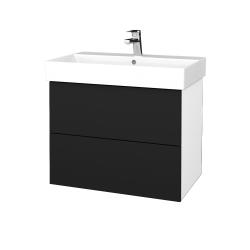 Dreja - Kúpeľňová skriňa VARIANTE SZZ2 70 - N01 Bílá lesk / N08 Cosmo (261399)