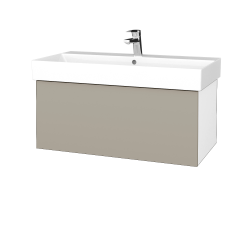 Dreja - Kúpeľňová skriňa VARIANTE SZZ 85 - N01 Bílá lesk / L04 Béžová vysoký lesk (261825)