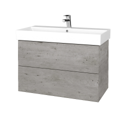 Dreja - Kúpeľňová skriňa VARIANTE SZZ2 85 - D01 Beton / D01 Beton (261931)