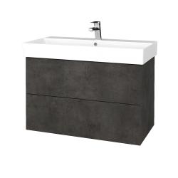 Dreja - Kúpeľňová skriňa VARIANTE SZZ2 85 - D16  Beton tmavý / D16 Beton tmavý (262037)