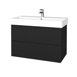 Dreja - Kúpeľňová skriňa VARIANTE SZZ2 85 - L03 Antracit vysoký lesk / L03 Antracit vysoký lesk (262082)