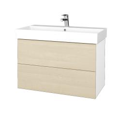Dreja - Kúpeľňová skriňa VARIANTE SZZ2 85 - N01 Bílá lesk / D02 Bříza (262143)