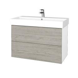 Dreja - Kúpeľňová skriňa VARIANTE SZZ2 85 - N01 Bílá lesk / D05 Oregon (262174)
