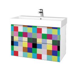 Dreja - Kúpeľňová skriňa VARIANTE SZZ2 85 - N01 Bílá lesk / IND Individual (262273)