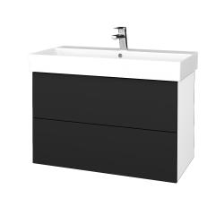 Dreja - Kúpeľňová skriňa VARIANTE SZZ2 85 - N01 Bílá lesk / L03 Antracit vysoký lesk (262280)