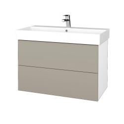 Dreja - Kúpeľňová skriňa VARIANTE SZZ2 85 - N01 Bílá lesk / L04 Béžová vysoký lesk (262297)