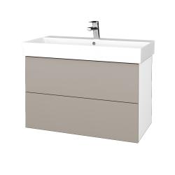 Dreja - Kúpeľňová skriňa VARIANTE SZZ2 85 - N01 Bílá lesk / N08 Cosmo (262334)