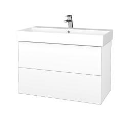 Dreja - Kúpeľňová skriňa VARIANTE SZZ2 85 - N01 Bílá lesk / L01 Bílá vysoký lesk (262341)