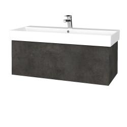 Dreja - Kúpeľňová skriňa VARIANTE SZZ 100 - D16  Beton tmavý / D16 Beton tmavý (262501)