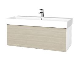 Dreja - Kúpeľňová skriňa VARIANTE SZZ 100 - N01 Bílá lesk / D04 Dub (262631)