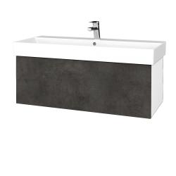 Dreja - Kúpeľňová skriňa VARIANTE SZZ 100 - N01 Bílá lesk / D16 Beton tmavý (262709)