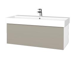 Dreja - Kúpeľňová skriňa VARIANTE SZZ 100 - N01 Bílá lesk / M05 Béžová mat (262730)