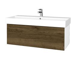Dreja - Kúpeľňová skriňa VARIANTE SZZ 100 - N01 Bílá lesk / D21 Tobacco (262860)
