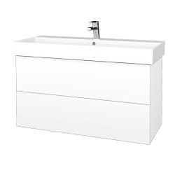 Dreja - Kúpeľňová skriňa VARIANTE SZZ2 100 - M01 Bílá mat / M01 Bílá mat (262990)