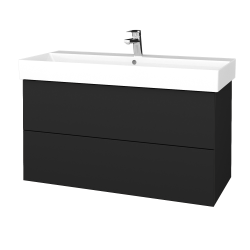 Dreja - Kúpeľňová skriňa VARIANTE SZZ2 100 - L03 Antracit vysoký lesk / L03 Antracit vysoký lesk (263027)