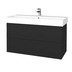 Dreja - Kúpeľňová skriňa VARIANTE SZZ2 100 - N03 Graphite / N03 Graphite (263041)