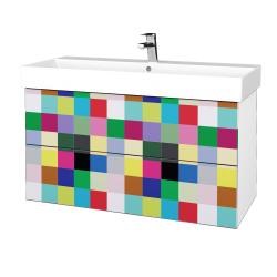 Dreja - Kúpeľňová skriňa VARIANTE SZZ2 100 - N01 Bílá lesk / IND Individual (263218)
