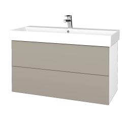 Dreja - Kúpeľňová skriňa VARIANTE SZZ2 100 - N01 Bílá lesk / L04 Béžová vysoký lesk (263232)