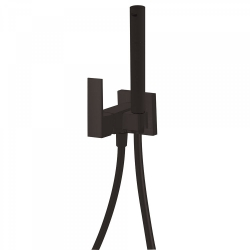 TRES - Jednopáková podomítková baterie pro bidet WCVyměnitelný držák zprava či zleva. Sprchová mosazná baterie s omezovacím hr (00612301NM)