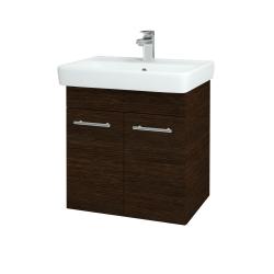 Dreja - Kúpeľňová skriňa Q DVEROVÉ SZD2 60 - D08 Wenge / Úchytka T02 / D08 Wenge (151645B)