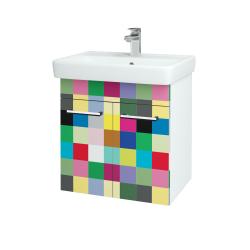 Dreja - Kúpeľňová skriňa Q DVEROVÉ SZD2 60 - N01 Bílá lesk / Úchytka T03 / IND Individual (20494C)