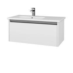 Dreja - Kúpeľňová skriňa BONO SZZ 90 (umývadlo Euphoria) - N01 Bílá lesk / N01 Bílá lesk (203672)