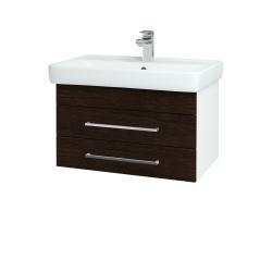 Dreja - Kúpeľňová skriňa Q ZÁSUVKOVÉ SZZ2 70 - N01 Bílá lesk / Úchytka T04 / D08 Wenge (20197E)
