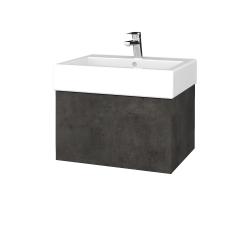 Dreja - Kúpeľňová skrinka VARIANTE SZZ 60 - D16  Beton tmavý / D16 Beton tmavý (263447)